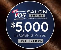 We have NEW chances for you to #WIN. $5,000 CASH & VO5 Salon Series prizes! Vote for your favorite fan created video in our ‪#‎BeautyForAll‬ Anti-Frizz Sweepstakes. Beauty For All. Frizz For None!