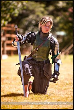 Samantha Swords Wins Longsword Competition at Harcourt Park World Invitational Jousting Tournament!