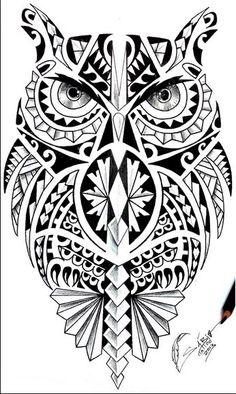 tatuagens-maori-de-coruja-foto-1.jpg (346×579)                              …