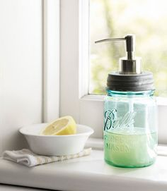 Find new uses for your classic mason jar, like turning it into a soap dispenser.