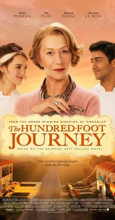 The Hundred-Foot Journey (2014)  PG   A story centered on an Indian family who moves to France and opens an eatery across the street from a Michelin-starred French restaurant run by Madame Mallory.