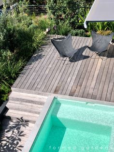Formed Gardens provides you with a complete range of landscape services including design, construction & maintenance. We have an experienced team of landscape architects, project managers and qualified tradesmen to cater for your project Swimming Pool Decks, Swimming Pool Designs, Front Yard Design, Timber Deck, Landscape Services, Plunge Pool, Garden Landscape Design, Hot Tubs, Cool Landscapes