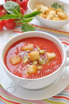 Рецепт: Гаспачо (холодный томатный суп)  https://ru.pinterest.com/lida_zhukova/%D1%81%D1%83%D0%BF%D1%8B/