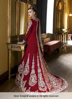 noor-bridal-52 | Asiana deep red, love the back