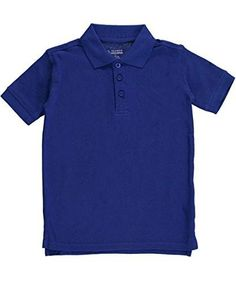 4b07a29cf Classic School Uniform Big Boys  Pique Polo (Sizes 8 - 20) - royal blue