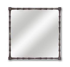Miroir de Nicolas Aubagnac pour Delisle, bronzier d'art - Collection PAPYRUS - bronze patiné
