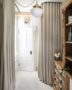 Floor-to-ceiling solutions bring an added wow-factor to small spaces. Get the Look at theshadestore.com // Designed by Zio & Sons for This Old Hudson Maison Drapery, Curtains, Custom Drapes, Master Suite, Small Spaces, Flooring, Design, Home Decor, Dining Room