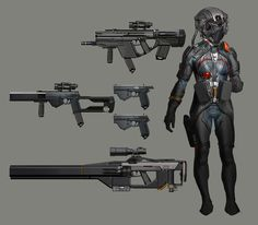 character, future warrior, weapons, futuristic clothing, future girl, future soldier, futuristic suit, helmet, armor, military