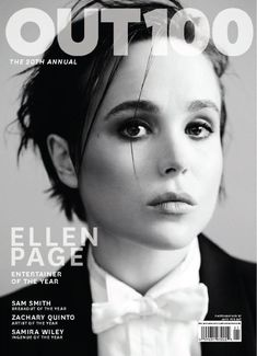 Sexy, smart, and sophisticated, it inspires readers with captivating feature stories, striking fashion layouts, and lively entertainment reviews. Get OUT digital magazine subscription today to discover what\'s in. Each issue is filled with interviews, fashion, travel, celebrities and more for gay life today. Ellen Page, Pretty People, Beautiful People, Beautiful Ladies, Out Magazine, Magazine Covers, Magazine Photos, Glamour Magazine, Digital Magazine