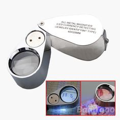 30X 60X Drawer Model Pocket Microscope Illuminated Magnifier Lens with LED /& UV