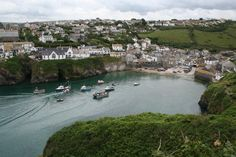 Port Isaac, Cornwall. This is the location where the the tv show Doc Martin is filmed. Just love the show!
