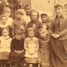 This is a detail of my great grandmother Sophronias class picture c. 1888. Its a huge classtoo big to see in its entirety hereand actually shes not in this part of the picture but she doesnt have to be for me to feel its profundity.  Her classmates and teacher say so much about her lifeway more than a portrait of only her would. We are all connected and nothing drives that home like old photographs do.  I never met my great grandma Sophronia and I know very little about herso little I…