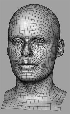 Male head topology with fine details, pay attention to the nose. More in source. (artist: Lukáš Hajka) #Topology #Wireframe3D