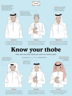 Know your Thobes: How to spot the GCC national