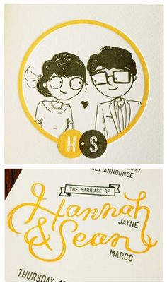 Verbal Vomit: cute wedding invitations, designed by the bride herself!