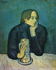 Pablo Picasso Blue Period and famous paintings. Information about Pablo Picasso artwork. Buy the Barcelona Museum Pass and Skip the line at the Picasso Museum. Kunst Picasso, Art Picasso, Picasso Blue, Picasso Paintings, Picasso Rose Period, Art Paintings, Georges Braque, Portrait Picasso, Cubist Portraits