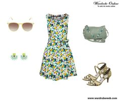 Buenos días!! Hoy un look para turistear un ratito, http://wardrobeweb.com/wardrobe-beach-flowers/ feliz finde chic@s!! Disfrutad  #moda #fashion #dress #outfit