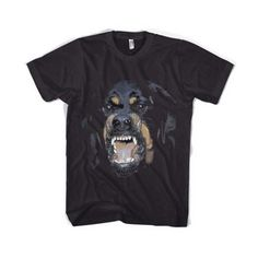 Givenchy Rottweiler Men Women Black T-Shirt Tee (160 ARS) ❤ liked on Polyvore featuring tops, t-shirts, shirts, tees, pattern shirts, graphic design t shirts, black crop top, women tops and graphic shirts