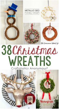 38 Fun and Easy DIY Christmas Wreaths for you to try this year! Find inspiration for your next DIY Christmas wreath and get ideas for displaying them.
