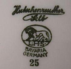 Pottery and Porcelain Marks: L. Hutschenruether Porcelain Factory