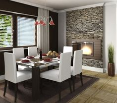 Pull Out Fireplace Insert From Stone Wall With Accent Tiles Around ItDO