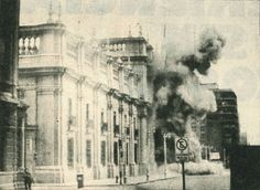TIL that on September 1973 the US government backed local right-wing armed forces in the bombing of the presidential seat of power in Chile and coup d'état to replace the democratically elected leader with the dictator Augusto Pinochet. Military Dictatorship, Chili, Military Coup, Democratic Socialist, Weapon Of Mass Destruction, Coups, United States, Street View, World