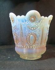 *NORTHWOOD GLASS COMPANY ~ opalescent  Encore   Jewel and Flower  spooner