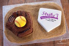 how amazing is this custom softball-themed birthday cake!