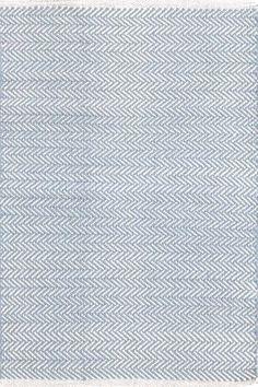 Dash and Albert Rugs Herringbone Swedish Blue Geometric Rug & Reviews | Wayfair