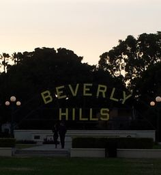 """FREE (the good """"F"""" word) :) to see the Beverly HIlls sign, in Beverly Gardens Park on Santa Monica Boulevard, in Beverly Hills, CA"""