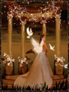 Imagen de amor de un ángel llena de paloma blancas - http://www.imagenesdeamor.pro/2013/08/imagen-de-amor-de-un-angel-llena-de-paloma-blancas.html