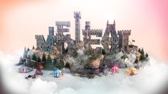 Medieval Fantasy Castle 3D Wallpaper