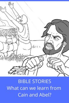 Print this activity, read the Bible verses, and fill in the missing dialogue. You can color the pictures too! Sunday School Stories, Sunday School Lessons, Activity Sheets For Kids, Bible Drawing, Cain And Abel, Children's Bible, Bible Illustrations, Bible Lessons For Kids, Bible Teachings