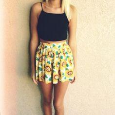 Brandy Melville Dresses & Skirts - Brandy melville rare sunflower skirt 2