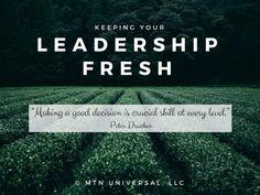 Keeping Your Leadership Fresh