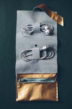 DIY Cord Wallet by Mr Kate. Click through for a roundup of 19 perfect DIY projects for travel lovers - all gorgeous, wanderlust-inspired and simple to make.