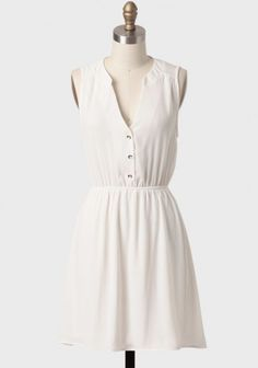 Charter Club Buttoned Dress | Modern Vintage Dresses | Modern Vintage Clothing
