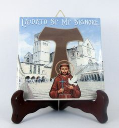 Saint Francis of Assisi Ceramic Tile  Handmade by TerryTiles2014