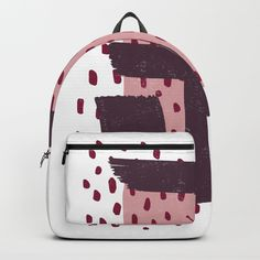Modern Dots Between Lines Backpack | Statement Goods on Society6 #pattern #backpack #patterndesign #surfacedesign