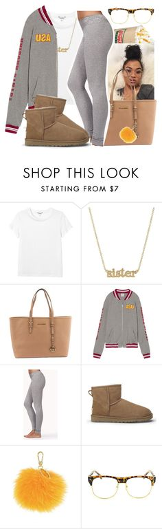 """""""Into You ~ Ariana Grande"""" by retrovintagepizza ❤ liked on Polyvore featuring Monki, Jennifer Meyer Jewelry, Michael Kors, Forever 21, UGG Australia, Furla and Chicnova Fashion"""