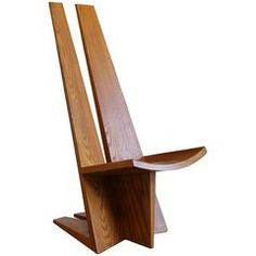 Handcrafted Sculptural Solid Oak Chair