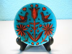 Mid-Century enamelware trinket dish by SouvenirAndSalvage on Etsy