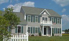 Colonial Home Plan - Hampton