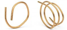 Rebar in Gold - Bracelets Courtesy of Ai Weiwei Studio As the gold is pure at 24 karat, it is flexible and each bar is individually bent by the artist, creating the first form for the wearer to then adjust on his or her wrist, finger or neck.