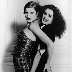 Little Nell and Patricia Quinn as Columbia and Magenta from 'Rocky Horror Picture Show'