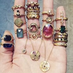 Boho bohemian gypsy style jewelry rings. For more follow…