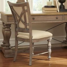 Riverside Furniture Windhaven X-Back Upholstered Side Chair - Hudson's Furniture - Dining Side Chair Tampa, St Petersburg, Orlando, Ormond Beach