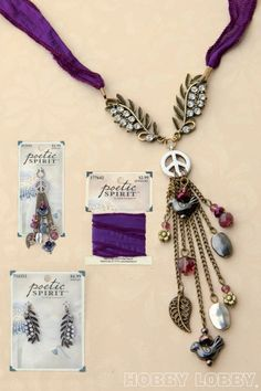 "You're sure to love this amazing ""peace"" of jewelry from the Poetic Spirit collection at Hobby Lobby!"