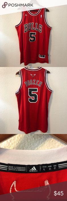 9b62853f73a Chicago Bulls Carlos Boozer Jersey Great condition, no stains or tears  adidas Shirts Tank Tops