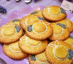 Lovely Lavender Theme:little french hat cookies.